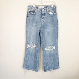 NWOT Free People High Rise Cropped Jeans sz 28